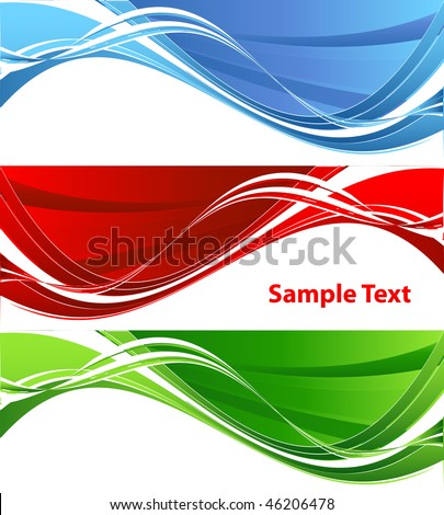 colorful vector banner in four color variations. Elements for design
