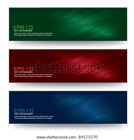 Colorful vector banner set