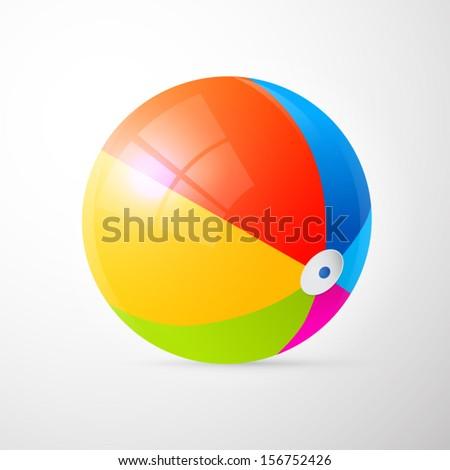 colorful vector beach ball