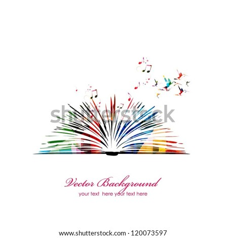 colorful vector book with