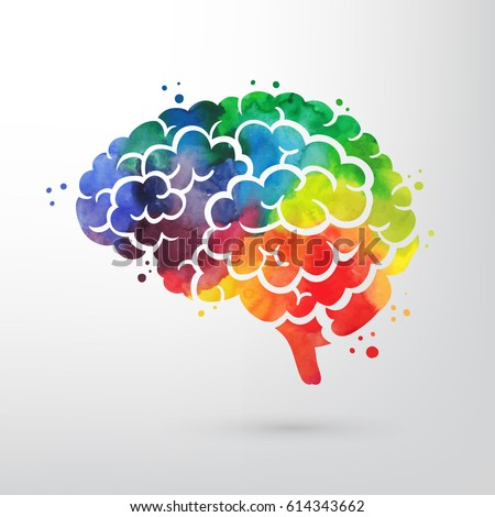 colorful vector brain