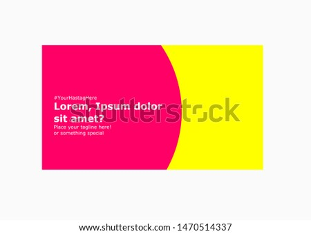 Colorful vector brochure, flyer, poster for online ads