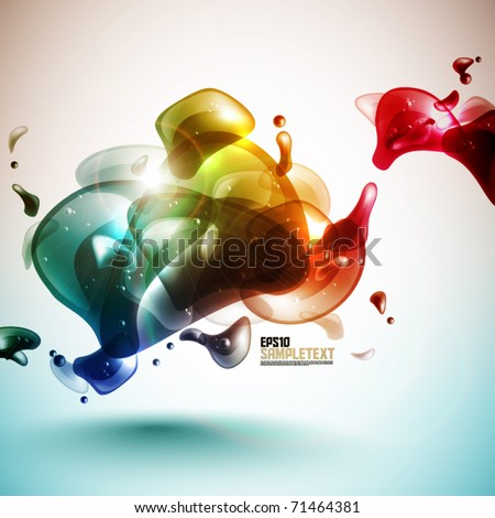 Colorful Vector Bubbles Design