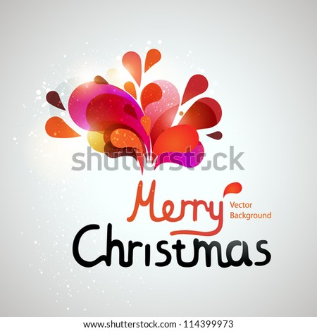 colorful vector christmas card