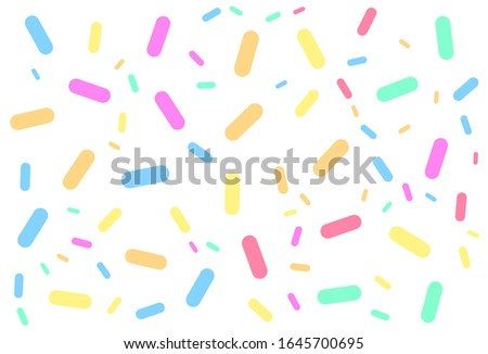 Colorful vector confectionery. sprinkling of irregular confectionery. Colorful vector Pattern for your projects.