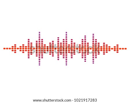 colorful vector design illustration of dynamic sound wave, radio frequency modulation, random sound wave, amplitude wave, vibration, signal, pulse