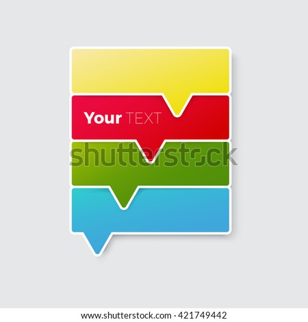 Colorful Vector Design of a Rankings Flyer Placeholder Element