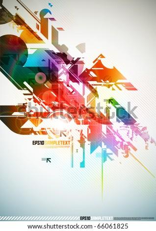 Colorful Vector Digital Element