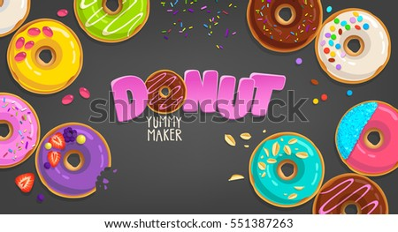 colorful vector donuts in