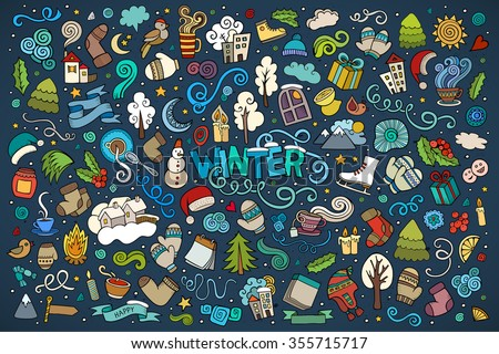 colorful vector hand drawn