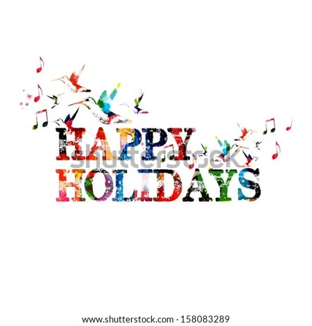 colorful vector happy holidays