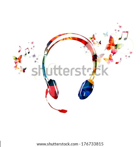 colorful vector headphones