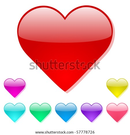 Colorful Vector Heart Icons