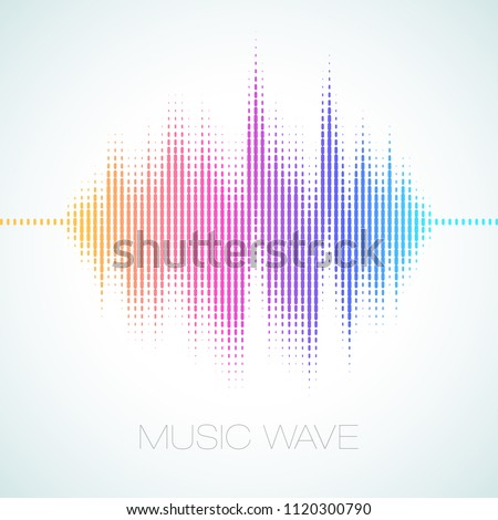 Colorful vector illustration of an Equalizer Sound Wave on a bright background