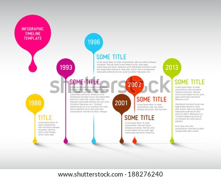 colorful  vector infographic