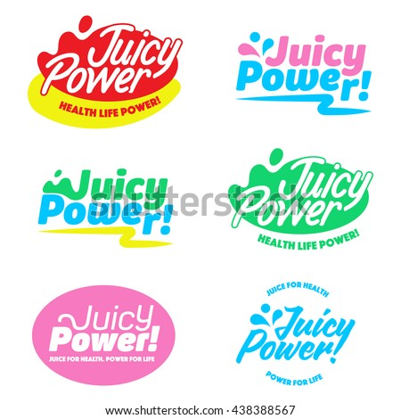 colorful vector juicy power