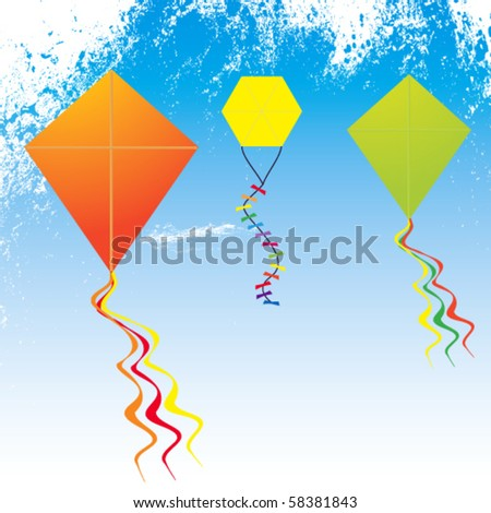 Colorful Vector Kites