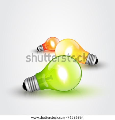 Colorful Vector Light bulbs