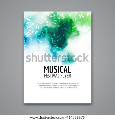 colorful vector music poster