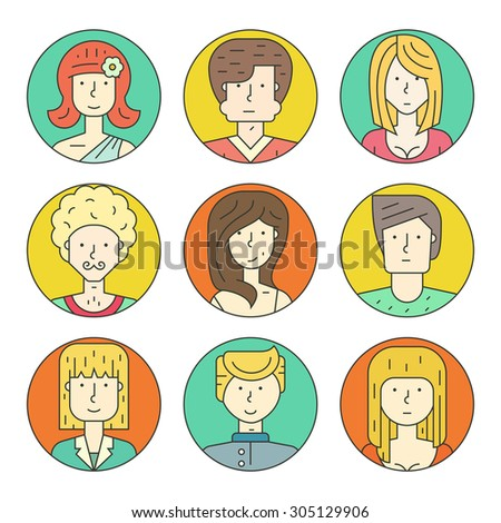 colorful vector people avatar