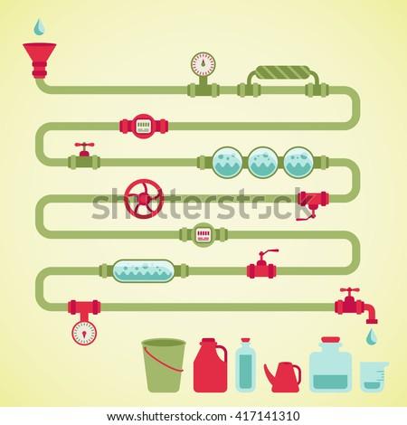colorful vector pipeline, design element