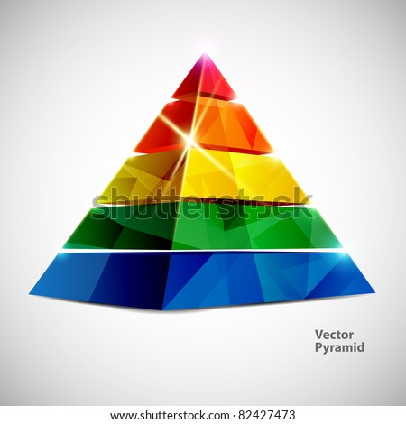 Colorful vector pyramid.