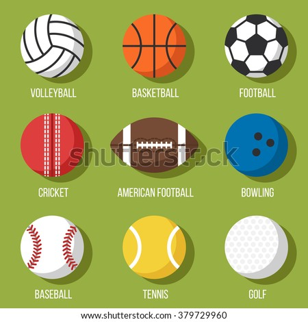 All Cars Symbols With Names >> Vector Images, Illustrations and Cliparts: Colorful vector set of sport balls icons: volleyball ...
