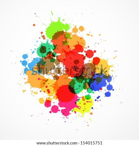 colorful vector splashes
