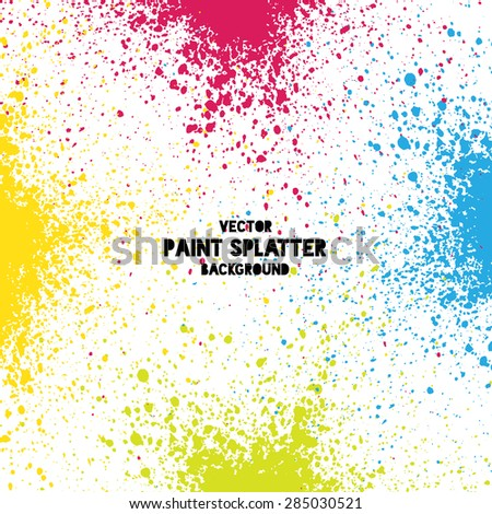 colorful vector splatter