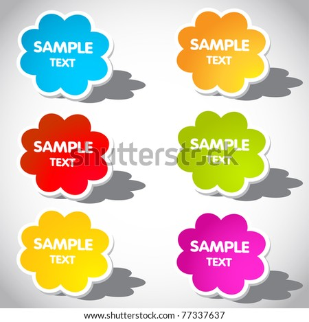 colorful vector stickers for your text