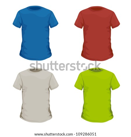 Colorful Vector T-shirt Design Template