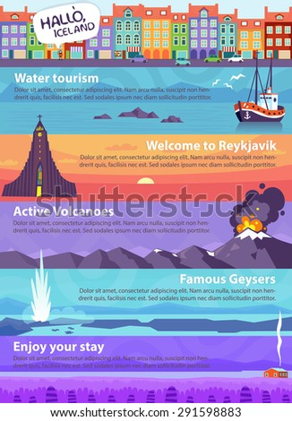 colorful vector travel banners