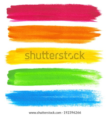 Colorful vector watercolor brush strokes #192396266