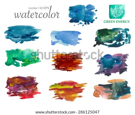 colorful vector watercolor