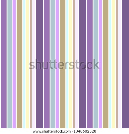 Colorful vertical abstract variable width stripes background  pastel seamless pattern vector. Purple stripes pattern. Cool contemporary vertical striped pattern.  Vector illustration.