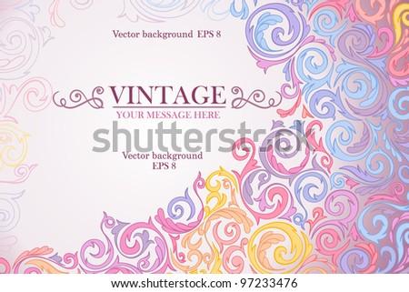 Colorful vintage background. Vector illustration. Eps 8. - stock vector