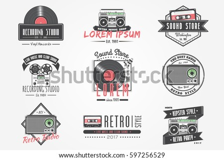 colorful vintage labels