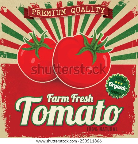colorful vintage tomato label