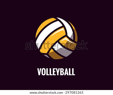 colorful volleyball ball icon. Vector illustration.