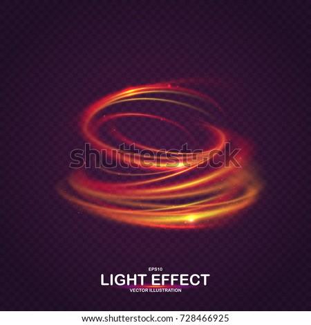 colorful vortex with luminous