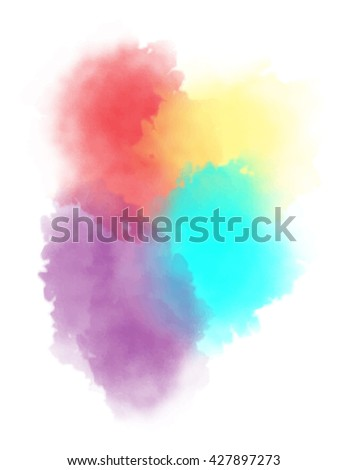colorful watercolor blotches