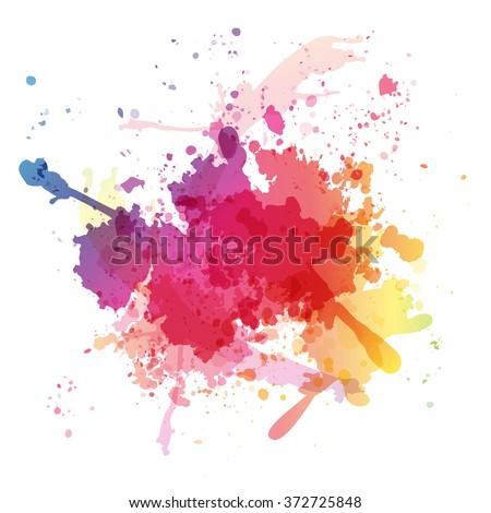 colorful watercolor blots and
