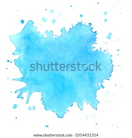 colorful  watercolor blots on