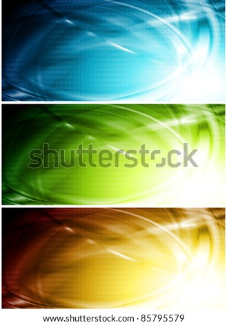 Colorful wave banners. Eps 10