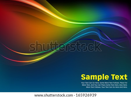 Colorful Waves and Lines Vector Background.