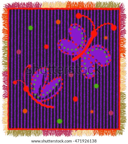 colorful weave carpet with
