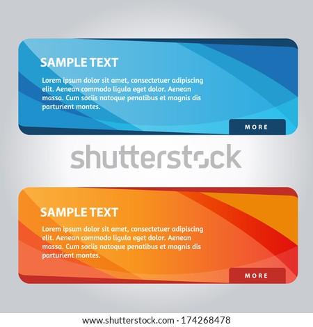 Colorful  Web Banner Design Set #174268478