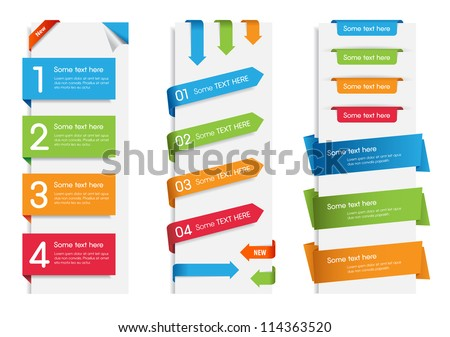 Colorful web stickers, tags and labels collection./ Colorful Web Stickers, Tags and Labels - stock vector