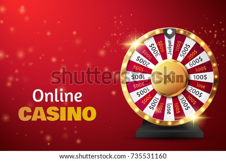 Colorful wheel of luck or fortune infographic. Vector illustration. Online casino background.