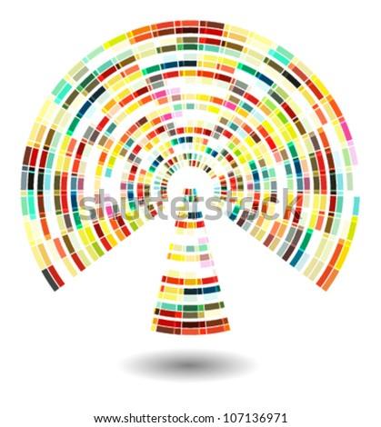 colorful wi-fi icon (vector)